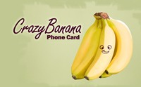 Crazy Banana Phone Card