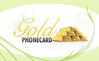 Gold Phone Card