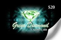 Green Diamond Calling Card $20