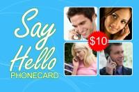Say Hello phone card $10