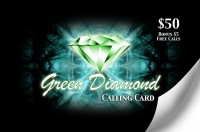 Green Diamond Calling Card $50