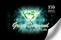 Green Diamond Calling Card $50