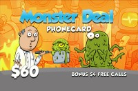 Monster Deal Phone Card $60