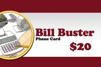 Bill Buster Phonecard $20