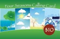 Four Seasons Phone Card $10