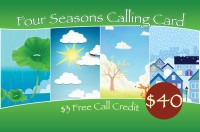 Four Seasons Phone Card $40