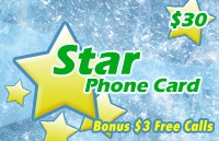 Star Phone Card $30