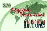 Anywhere Phone Card $20
