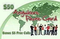 Anywhere Phone Card $50