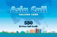 Asia Call Phone Card $50