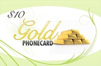 Gold Phone Card $10