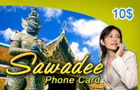 Sawadee Phone Card $10