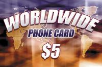 Worldwide Phone Card $5