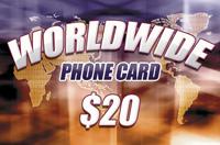 Worldwide Phone Card $20